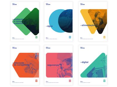 DecoJovem themes security forms food flyers environment digital kids brand identity logo colors