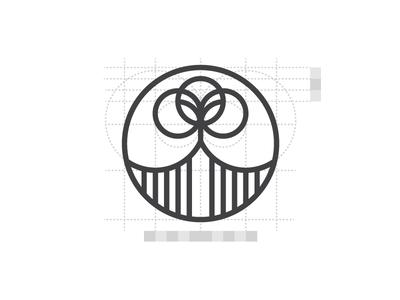 Logo grid systems minimalist vector logomark mark symbol constructions branding logo geometric brand guidelines