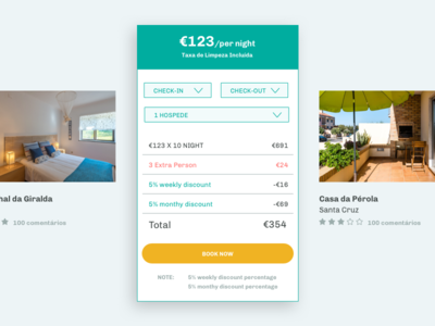 Book Now - Home Connect persons check-out check-in dropdown ui ux book now button houses call to action