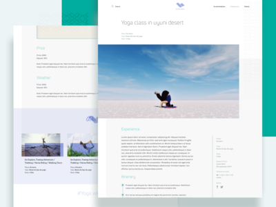 Experiences Page - HomeConnect web ux ui turism pages footer experiences singlepage book yoga