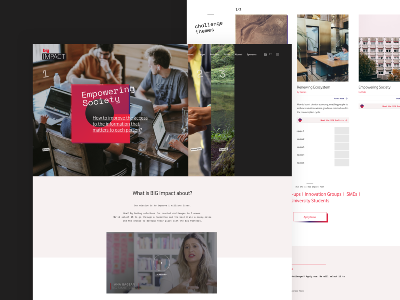 HomePage - BigImpact 2019 layout colors items homepage website typography modules design web ux ui