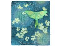 Luna Moth Floral Monoprint