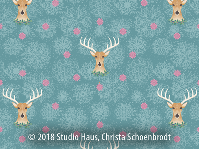 Repeat holiday reindeer pattern