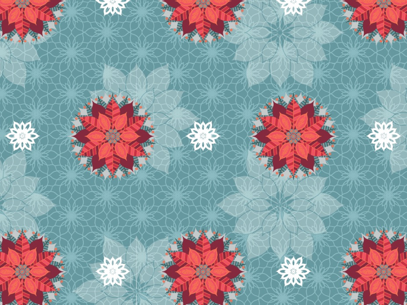 Poinsettia Pattern holiday pattern poinsettia repeat pattern