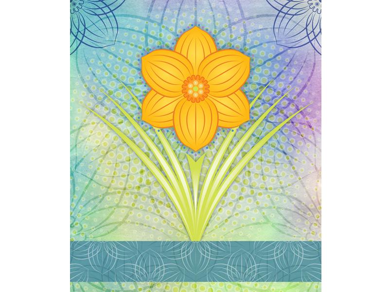 Tie-dye Tulip tulip floral illustration digital art mixed media