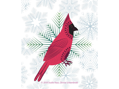 Scandi Holiday Cardinal