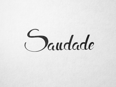 Saudade lettering hand lettering type
