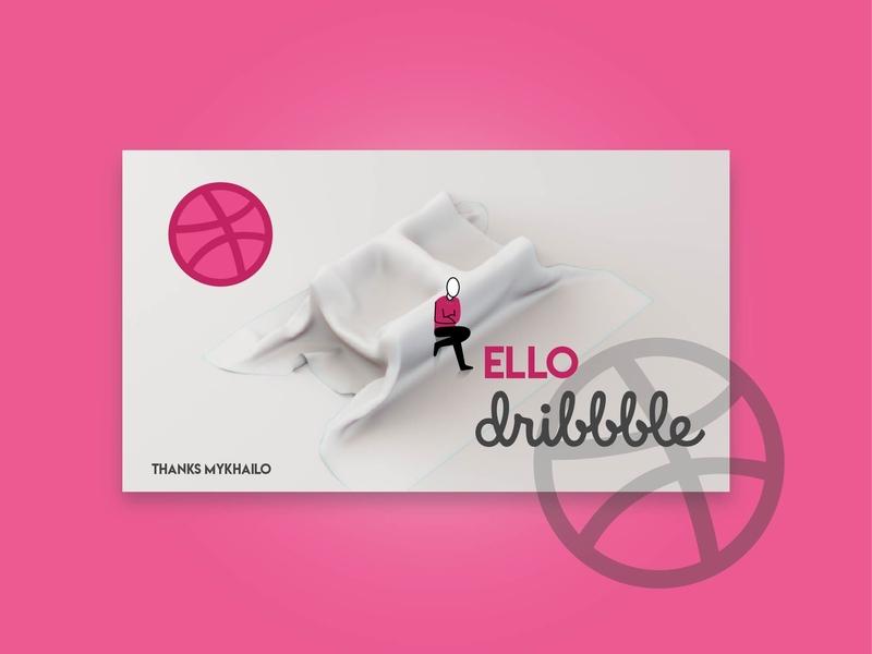 Hello Dribble character vector design 3d illustration