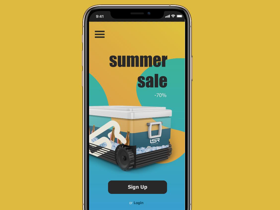 Summer Sale typography sale summer mockup ui 3d