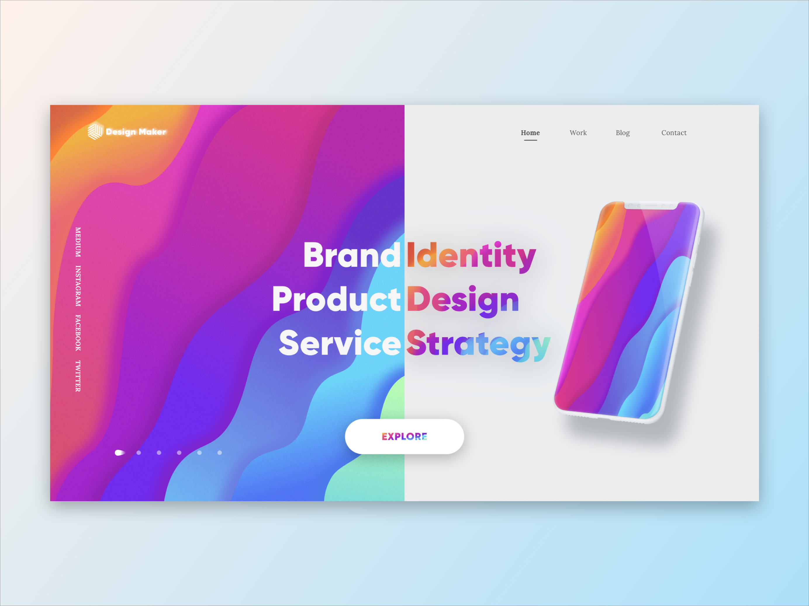 Charles Cheng / Projects / Web Layout Exploration | Dribbble