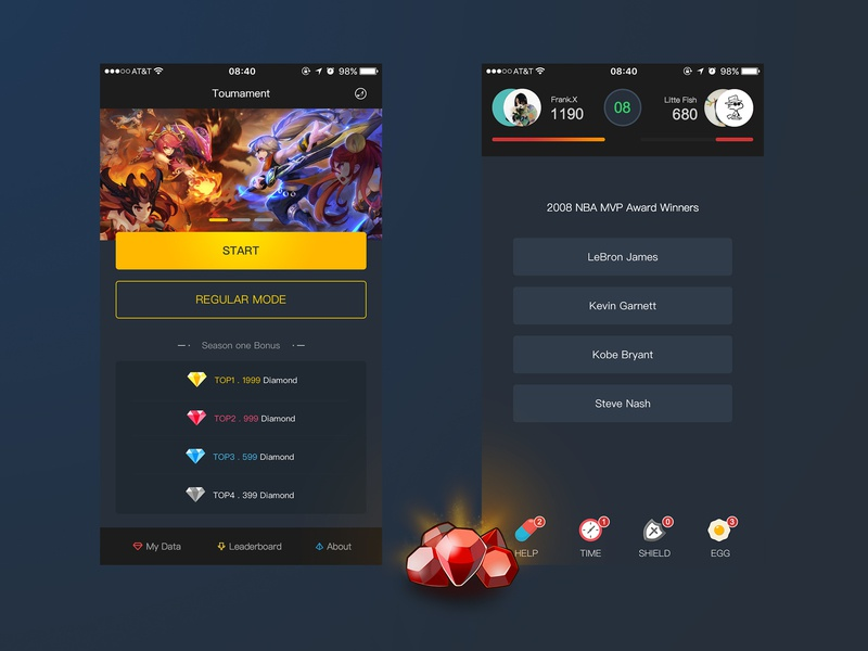 Tournament by Taony on Dribbble