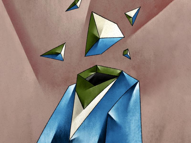 Headless times. art geometric artwork drawing illustration ilustracion digital illustration digital drawing digital painting digital art editorial illustration