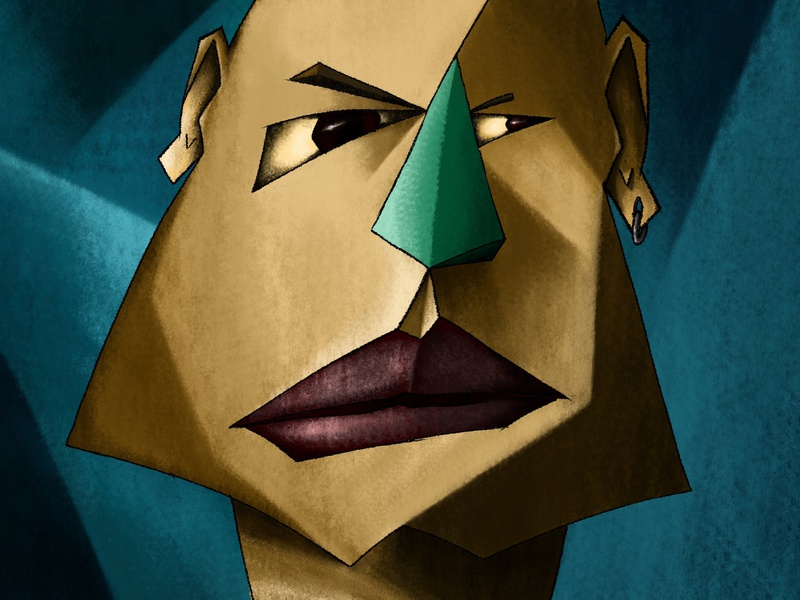 Portrait lines geometric art graphic artist creative drawing digital painting digital drawing artwork digital art illustration