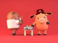 Lunar New Year - Tet 2019 - with Pomn Studio / Kitchen God