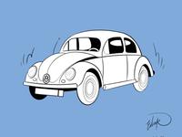 Classic Volkswagen Beetle.