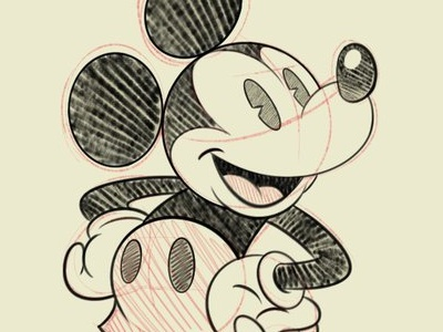 Mickey Sketch 1 mickey mouse walt disney c traditional art raton