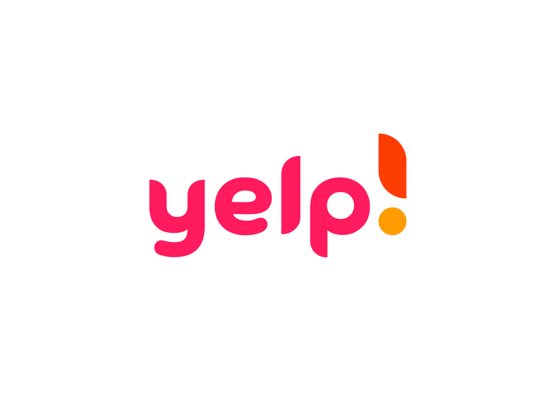 yelp logo a day redesign concept exclamation mark typography custom typeface vector graphic design branding brand logomark trademark redesign logo yelp