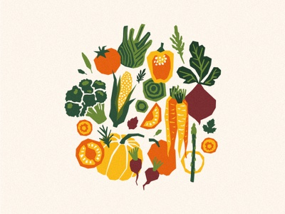 papercut vegetables organic farm harvest illustration xara vector vegetables papercut