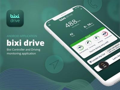 BixiDrive — Bixi Controller and driving monitoring application teddygraphics ui ux uiux driving monitoring driving app
