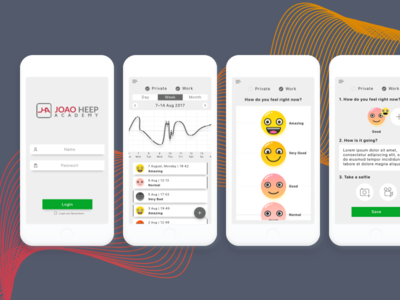 Emotion-Monitoring app's UI/UX rapid prototyping teddygraphics uiux design uiux