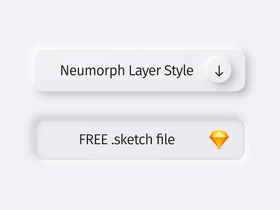 Neumorph Layer Style ui sketch teddydesign teddygraphics neumorphic neumorph