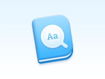 Eudict on macOS app icon Version 2