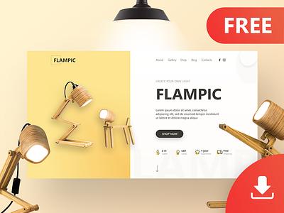 Flampic Design (First Screen) dowload free first screen landing web ux ui design