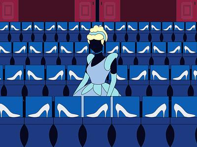Black Fairytale : Cinderella (3) graphic fairytale black cinderella illustration design