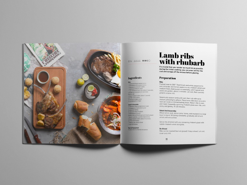 cookbook template by digital infusion dribbble