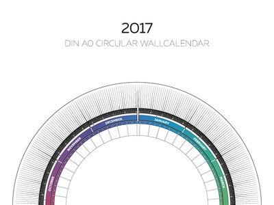 2017 Circular Calendar by Digital Infusion - Dribbble