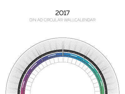2017 Circular Calendar day-to-day events monthly yearly scheduler planner poster wallcalendar circular calendar