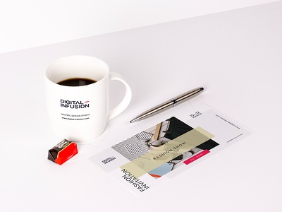 FREE — DL Invitation & Coffee Mug Mock-up digital smart object invitation flyer mug coffee product mockup coffee mug mockup flyer mockup