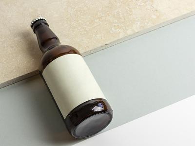Beer Bottle Mock-up product label mockup label textured marble beer mockup beer bottle mockup