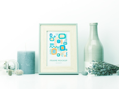 Frame Mockup infusion print digital props flowers layers product mockup picture frame wooden frame