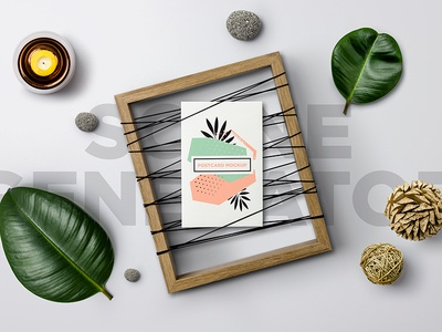 Unique Frame / Scene Generator real elements real photo postcard mockup picture frame mockup scene generator
