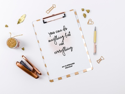 Gold Scene / Clipboard Mockup print digital real props styled photo custom gold scene letter mockup a4 mockup clipboard mockup