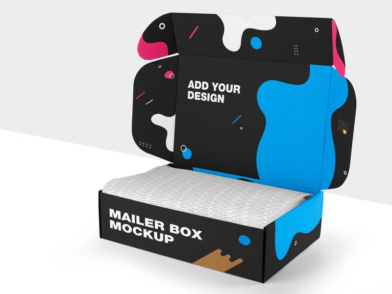 Craft Mailer Box Mockup real photo scenes real props mailer box craft box mockup minimal product mockup