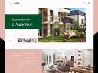 Real estate web design- Villa Saint Ferdinand