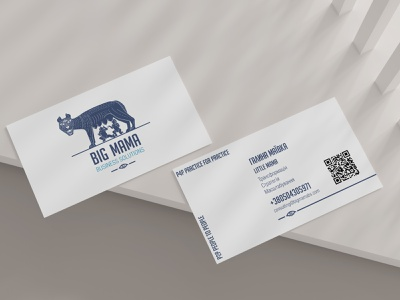 Business card - BIG MAMA business card ukraine lviv logo design designer graphic design