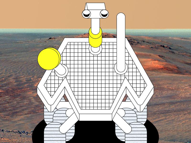 Opportunity Rover vector space exploration technology opportunity rover opportunity rover space nasa design illustrator digital illustration