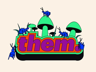 them. Logo Illustration