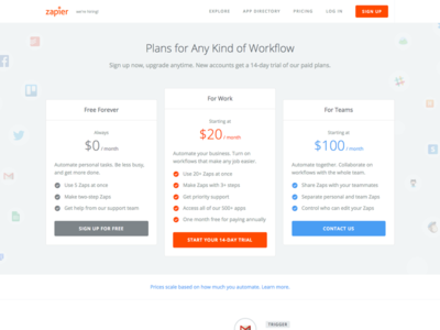 New pricing page