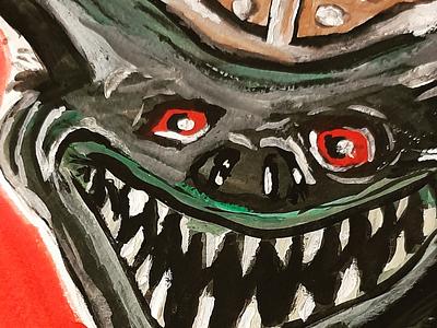 Goblin ink sketch gouache
