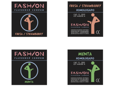 Fashion - Flavoured Condom (fake brand, just a joke) joke packaging design vector fake