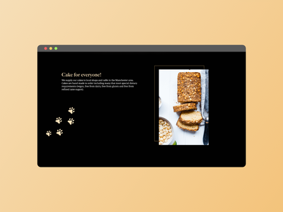 The Black Cat Cakery - Home page identity design cake shop ui  ux small business vegan food vegan landing page home page website branding