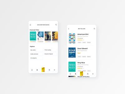 Kindle App - Design concept app design amazon icons uiuxdesign user experience ebook userinterface ux app ui