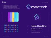 montech - Brand Identity logo tech startup children education technology development identity design brand identity branding logo design startup logo startup tech logo