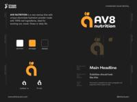 AV8 Nutrition - Unselected identity startup logo design identity design branding graphic design wellness logo healthy fitness restaurant vegan food vegan logo brand identity