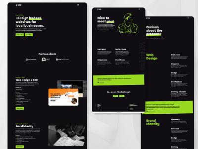Personal website redesign ui brand identity webdesigner landing page branding webflow local business personal branding web design website