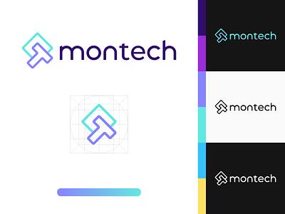 Montech - Visual Identity typography logomark graphic design branding logo mark logo love logo design brand identity logo design